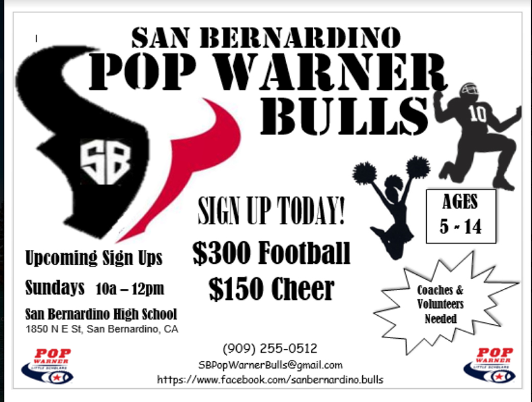 Pop Warner flyer