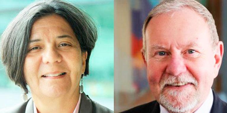 Dr Sandra Hernandez and Raymond Baxter