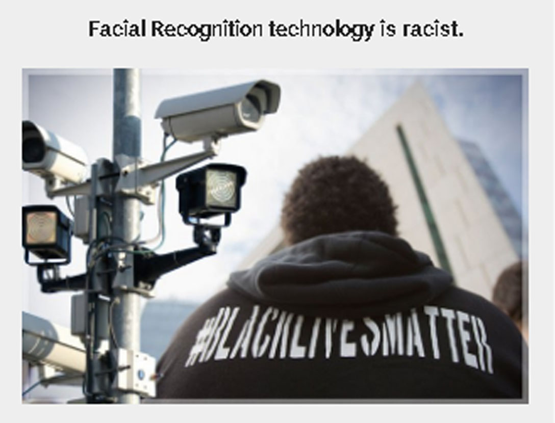 Facial recognition targets black people