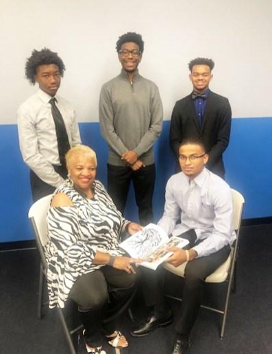Front (L/R): Ms. Madeline Farlow, Dylan Mack Back (L/R): Kameron Brantley, Amari Osonduagwuike & Andrew Mitchell