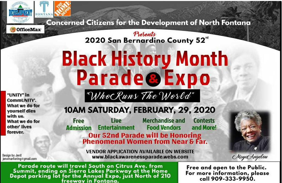 Black History Month Parade Expo Flyer