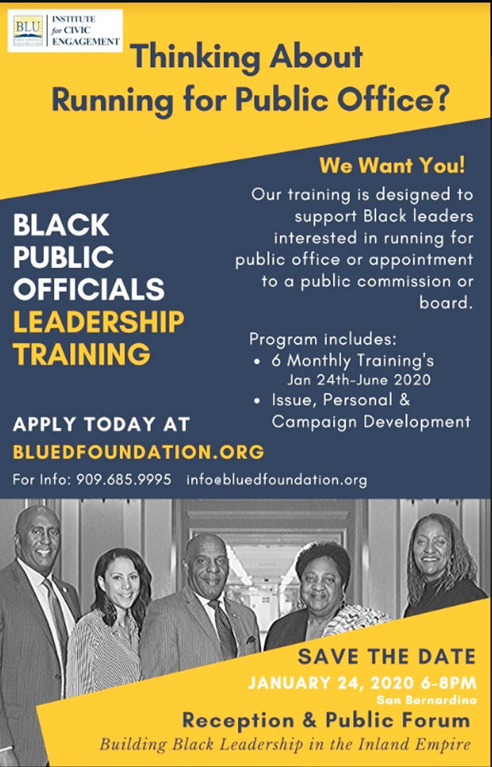 Black Public Officials Training Flyer