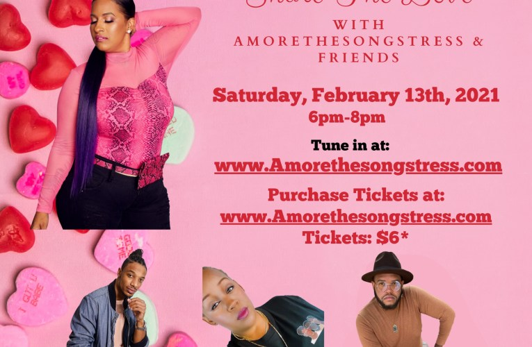 Enjoy a night of live R&B Music from home with local Inland Empire Artist Amoréthesongstress & Friends