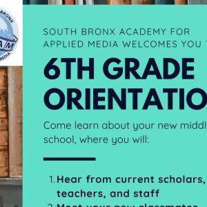 6th Grade Orientation