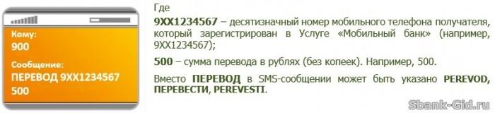 Un exemplu de traducere la numărul de telefon din Sberbank