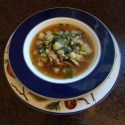 Chard, Chicken & Potato Soup - Menu Marker