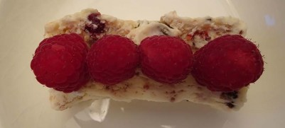 A simple presentation - just fresh raspberries
