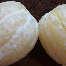Lemons peeled using the same method as for oranges.