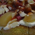 Gateau of rhubarb, apples and almonds - Menu Marker