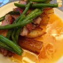 Spiced Duck Breast with Saffron Orange Sauce - Recipe Image/Menu
