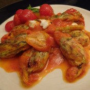 Mozzarella Stuffed Zucchini Flowers