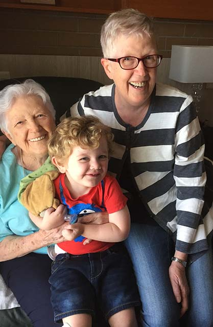 Great Nana, Granny and Cooper-r
