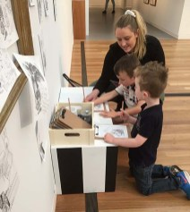 Olivia helping the children - r