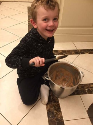 Making Nana's Chocolate Cream Cake