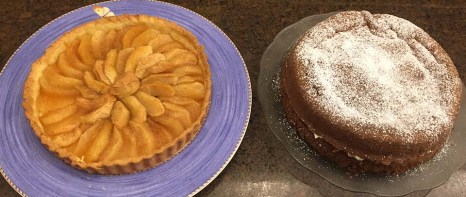 Apple Tart & Nana's Chcolate Cream Cake
