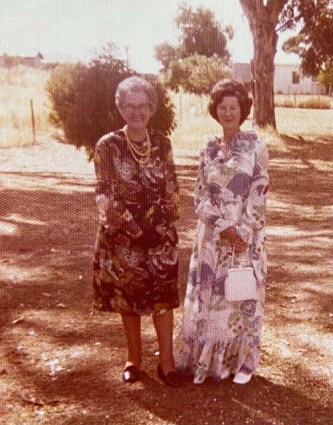 Grandma (Mrs Hester) Martin together with Sonnie's mother-in-law Mrs Winifred Collins