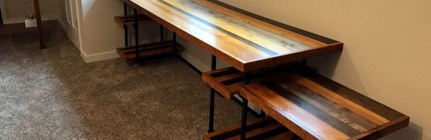 Diy Industrial Pipe Desk With Adjustable Shelves Simplified Building