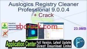 Auslogics Registry Cleaner 9.0.0.4 Crack