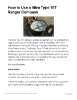 Compass 2 – How to Use a Silva Type 15T Ranger Compass – Know About Life