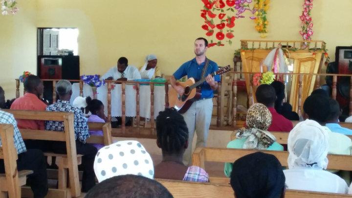 Andy Williams in Belloc, Haiti