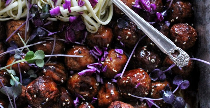 Sticky Teriyaki Chicken Meatballs