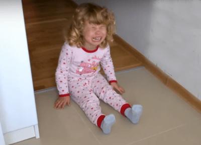 У ребёнка истерика