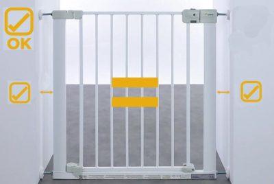 Детские ворота безопасности на лестницу