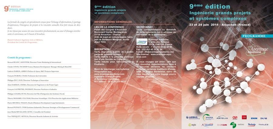 3 volets Programme Ingenierie (Avantage Aquitaine)