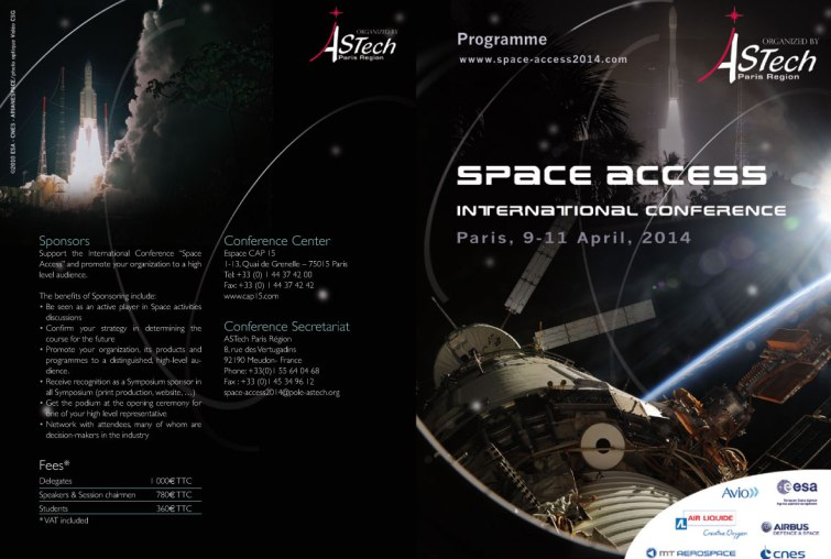 visuel conférence Space Access (Astech)