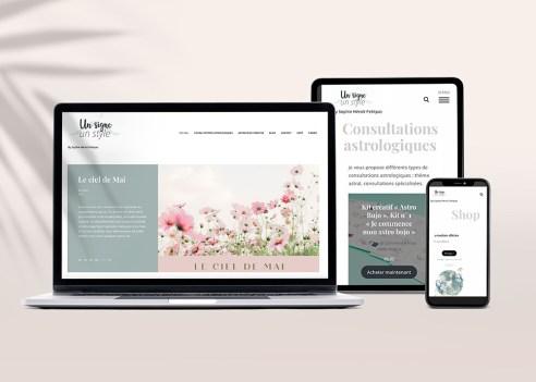 Création du site internet unsigneunstyle.com avec boutique woommerce