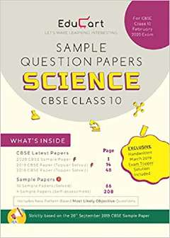 Educart CBSE Sample Question Papers Class 10 Science PDF