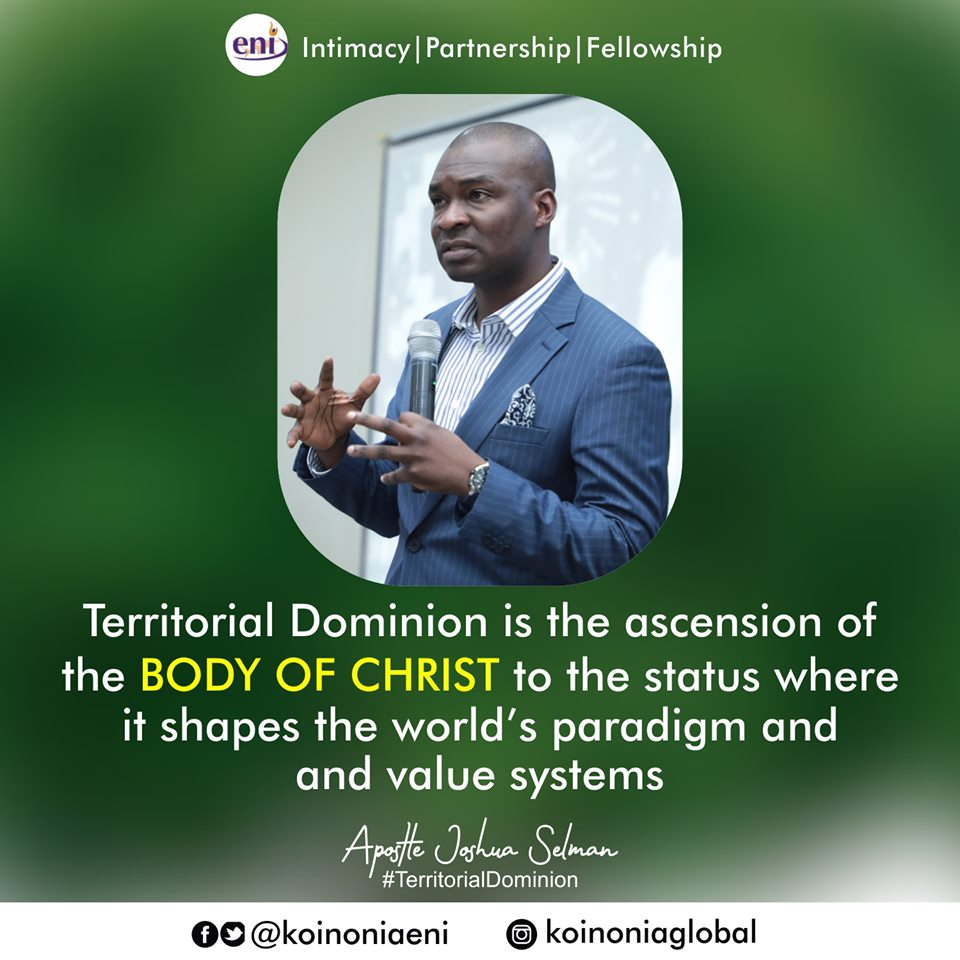 Territorial Dominion Koinonia with Apostle Joshua Selman Nimmak