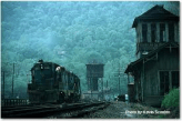On May 17, 1975 a Piney Creek man is putting his train away after coming down from Raleigh Yard in Beckley, WV.