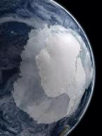 Antarctica from Space by NASA. The ice is actually increasing in case you were worried about prices