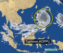 Pop. 1218 PM 9m29 minutes ago landfall across luzon phillipines 160 m.p.h. 420, 430.