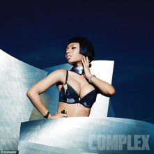 Nicki Minaj strips down to her bra for Complex Magazine ad