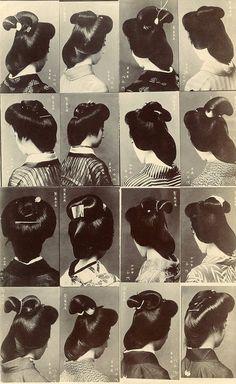 Geiko 1910, Geisha Hairstyles, Hair Style, Multi View, Hairstyles Worn, Hairstyles 1910S