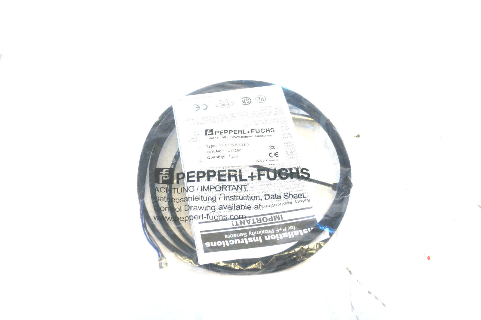 New Pepperl Amp Fuchs Nj1 5 6 5 40 E2 Inductive Sensor Nj E2 Sb Industrial Supply