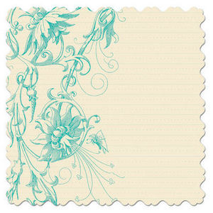 Bloom Floral Teal 12x12 Paper
