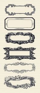 Antique Cream Labels Stickers