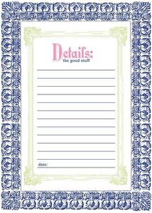 China Blue Cardstock Frame