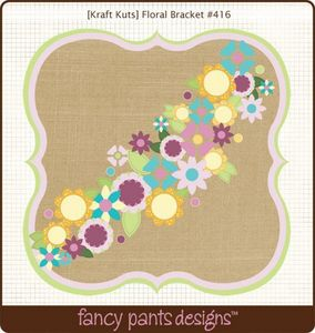 Floral Bracket Die Cut by Fancy Pants