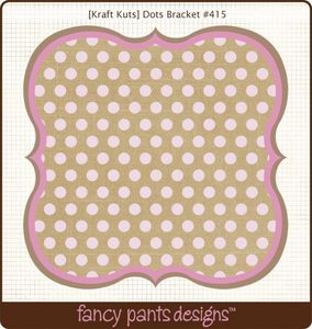 Dots Bracket Die Cut by Fancy Pants