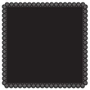 Square Black Die Cut