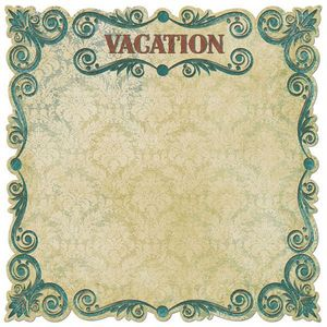 Vacation Die Cut