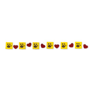 Sizzlits Decorative Strip Die - Hearts & Paws