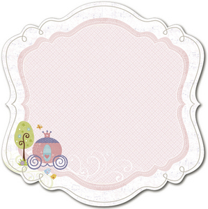 Tiny Princess Decorative Edge Cardstock By Little Yellow Bicycle