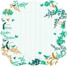 Floral Bracket Die-cut Paper - Hummingbird By Kaiser Craft