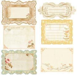 Journaling Notecards - Songbird Collection - Prima
