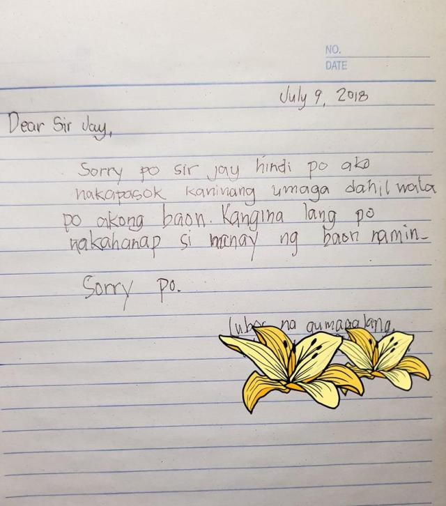 Student Excuse Letter To Teacher Goes Viral
